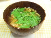 サラダ水菜_味噌汁