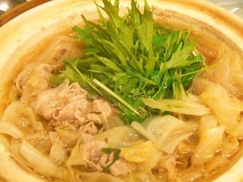 サラダ水菜_鍋20121118